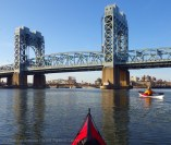 The we paddle up the Harlem River, under the other span of the Triborough