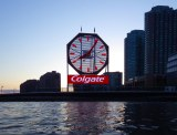 The Colgate Clock shows the correct time, for once
