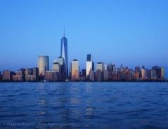 ... reflect off Manhattan