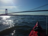The Verrazano-Narrows Bridge, now close