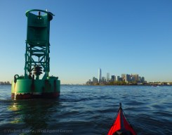 Green buoy and Manhattan