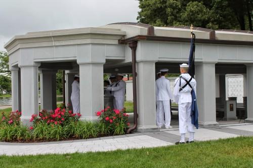 Sailors preparing for the funeral