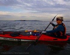 We paddle through the Bay Ridge Anchorage