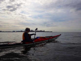 We paddle past Coney Island
