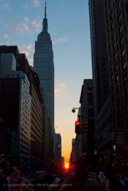The sun at the end of 34th Street