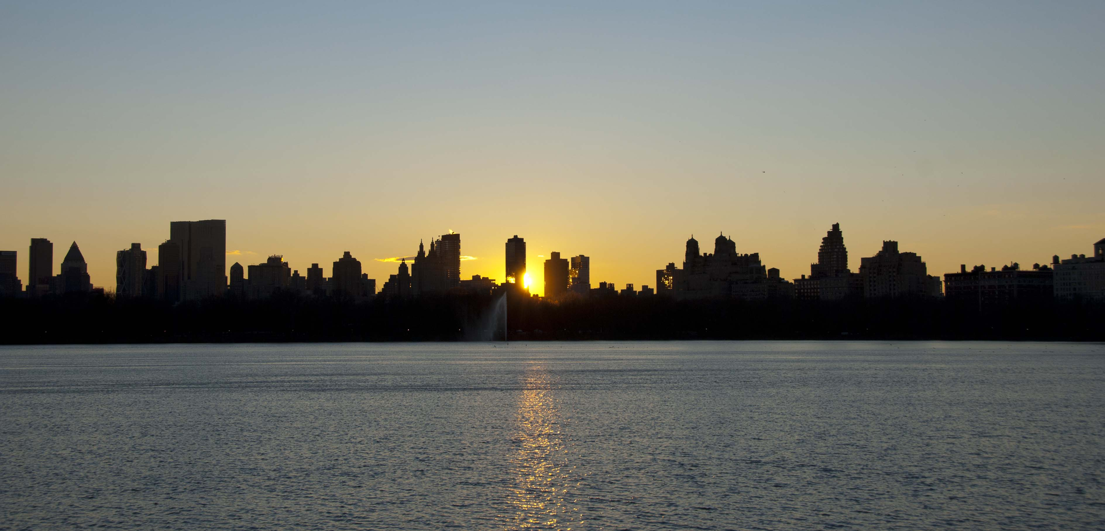 City Sunset Silhouettes Wind Against Current