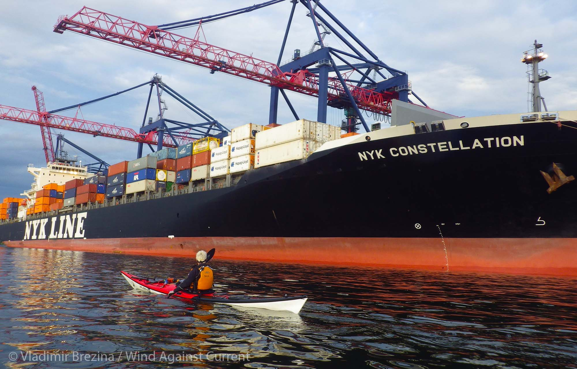 Container Ship | Wind Against Current