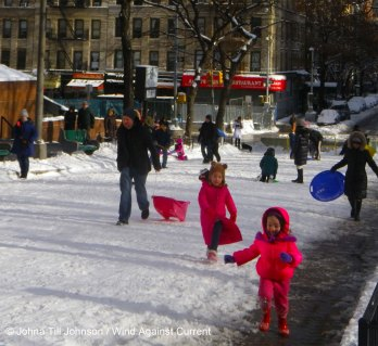 Sledding on E 91st St