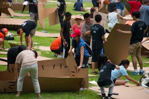 Cardboard Kayak Race 1
