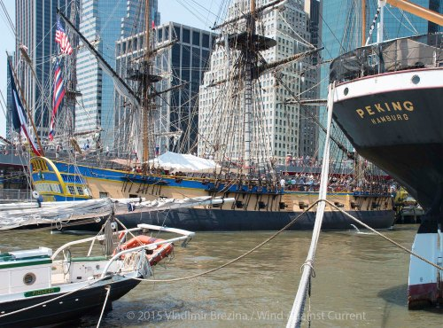 L'Hermione at the South Street Seaport, NYC