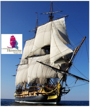 L'Hermione under sail