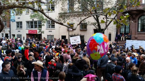 Looking left